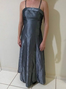 Vestido De Festa Chumbo Tamanho 36