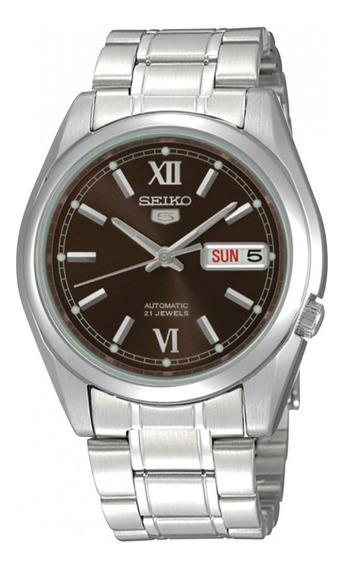 Relógio Seiko 5 Snkl53b1 Automático + Pulseira Em Couro