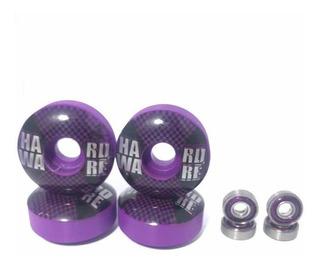 Rodinha Para Skate 53 Mm + Rolamento Abec 7