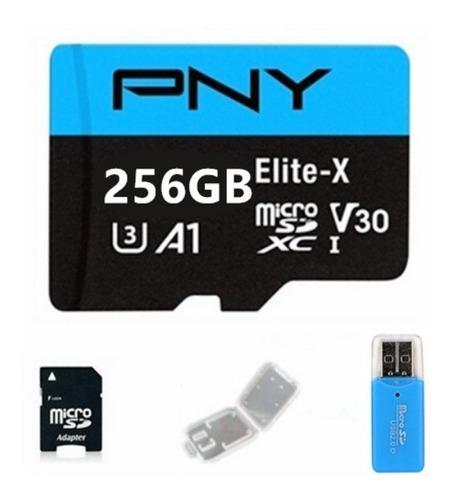 Cartão De Memória Sd ( Micro Sd ) 256 Gb + Adaptadores
