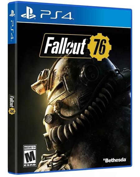 Jogo Ps4 Fallout 76 Mídia Física Original Novo Lacrado