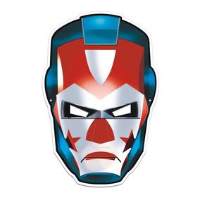 e6598652f33c36 Máscara Lutador Colorido Com Impresso - 01 Unidade