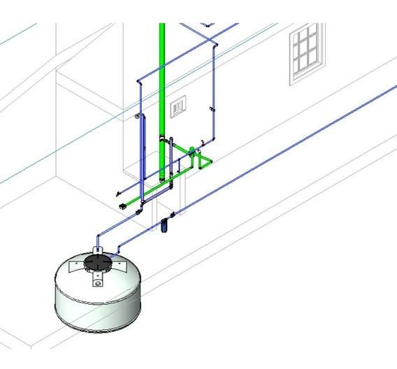Modelo De Projeto Hidrossanitário Residêncial No Revit