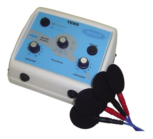 Imagen 1 de 12 de Electroestimulador Tens Bicanal Demik Electrodos Cables