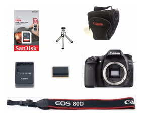 Câmera Canon 80d (corpo)+ 50mm 1.8+ Sd32gb+ Bolsa+ Tripé