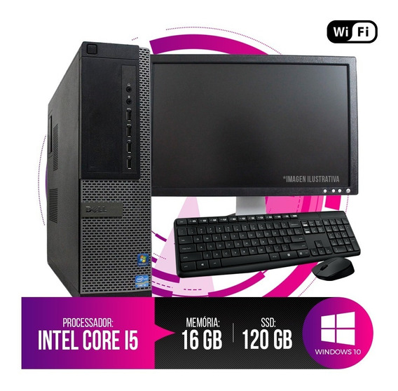Pc Completo Dell Optiplex 7010 I5,16gb Ram Ddr3,hd Ssd 120gb