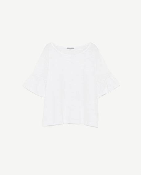 Remera Zara Blanca Nueva Con Etiquetas Importada De Usa