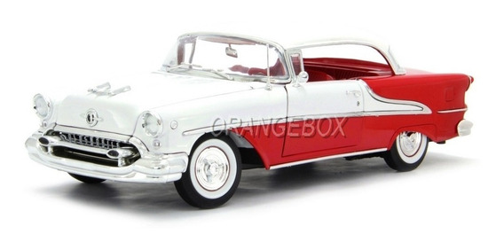 Oldsmobile Super 88 Conversível 1955 Welly 1:18 Vermelho