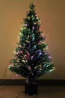 Árbol De Navidad 80cm Fibra Óptica Oficina Luz Multicolor