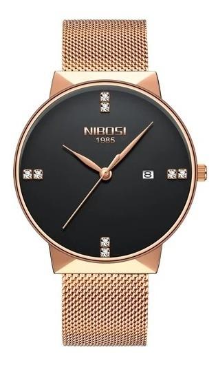 Kit 6 Relógios Unisex Nibosi Super Elegante Pronta Entrega