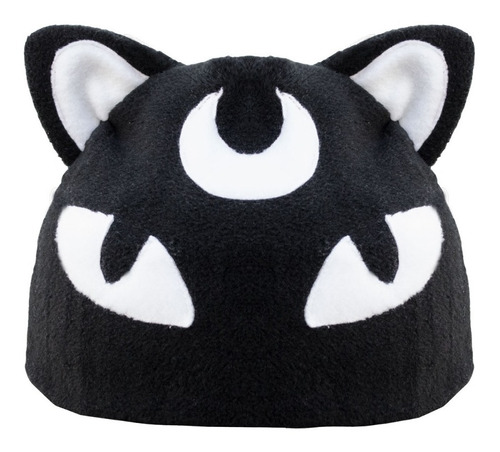 Imagen 1 de 4 de Beanie/gorro Black Cat Gato Negro Goth/kawaii/punkrave