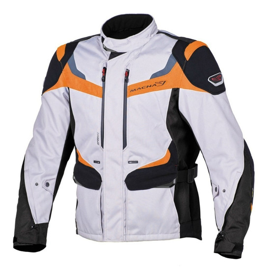Campera Cordura Macna Scope Gris Oscuro-negro-naranja