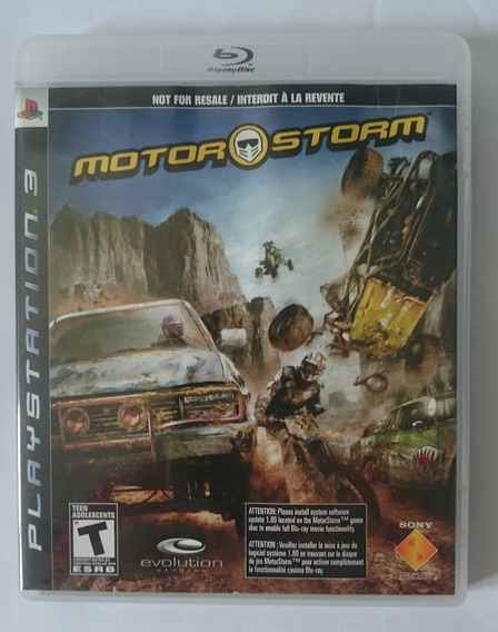 Jogo Ps3 Motor Storm - Mídia Física