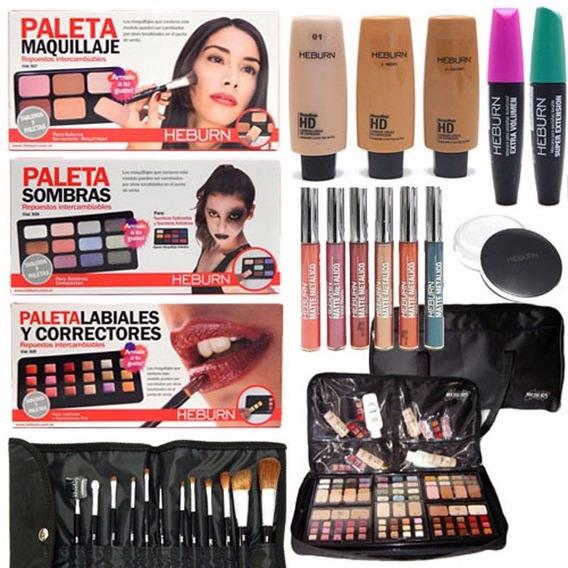 Set Profesional De Maquillaje Heburn + Bolso Organizador