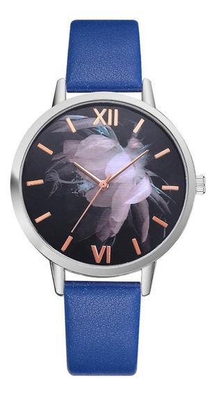 P473young Hombres Mujer Niño Niña Reloj Del Cuero De Cuarz