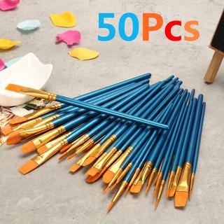 Azul 50 Unids/set Arte Pinceles Pintura Pincel Acuarela Para