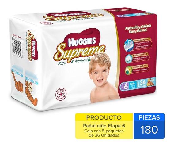 Caja Huggies Supreme E-6 Niño180 Uni