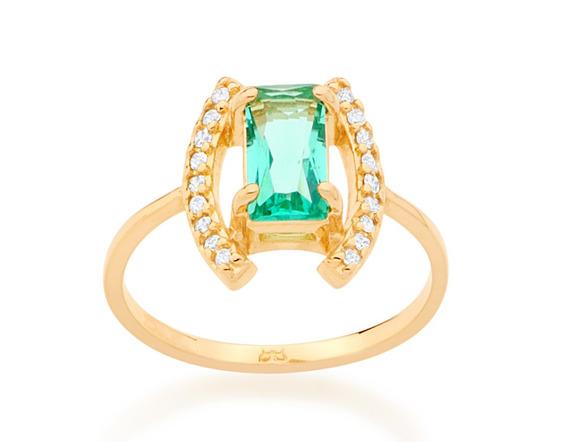 Anel Skinny Ring Vazado Folheado Ouro Rommanel 512582