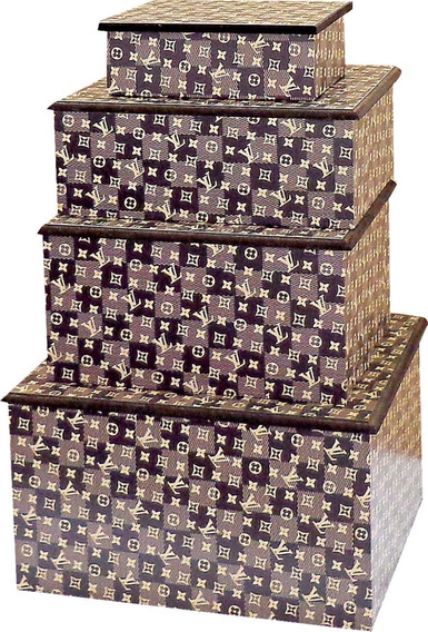 Kit Porta Jóias Luxo 04 Pcs - Pronta Entrega