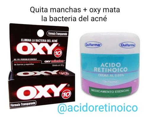 Tretinoina Topica + Oxy 10% Elimina La B - g a $664