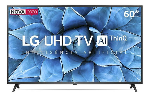 Imagem 1 de 7 de Smart Tv LG 60  4k Uhd 60un7310psa Hdr Ceramic Black Bivolt