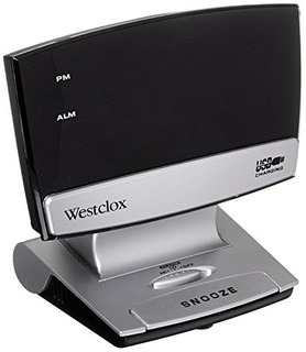 Westclox 80193 Classic Amfm Radio Reloj Negro