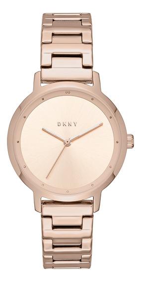 Reloj Dama Dkny Ny2637 Color Oro Rosado De Acero