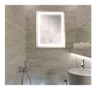 Espejo De Baño Con Luz Led Touch, Bluetooth 60 X 80 Cm
