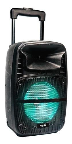 Parlante Portatil Carrito Con Bluetooth, Ecualizador, Led, Fm Y Mic Inalambrico Nspa8b