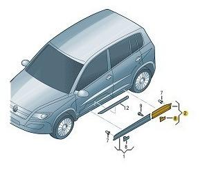 Friso Da Porta Traseira Ld Original Volkswagen Tiguan 12/17