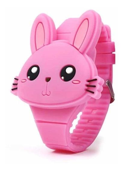Relógio Infantil Rosa Chiclette Das Meninas