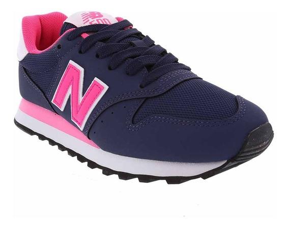 Tênis Feminino New Balance 500 Azul Marinho/rosa Gw500nwp