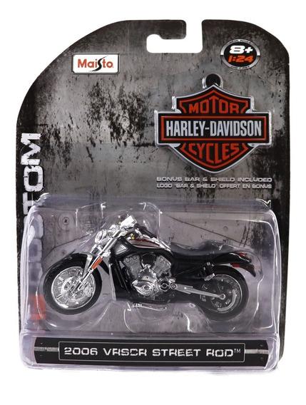1:24 Motos A Escala 1/24 Harley Davidson Custom Hd Maisto