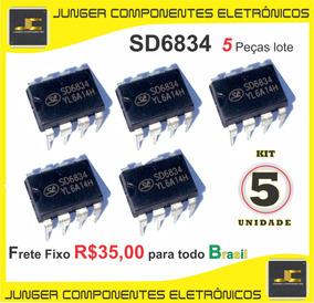 Sd6834 - Sd 6834 - 6834 - Dip8 - 5 Peças Lote