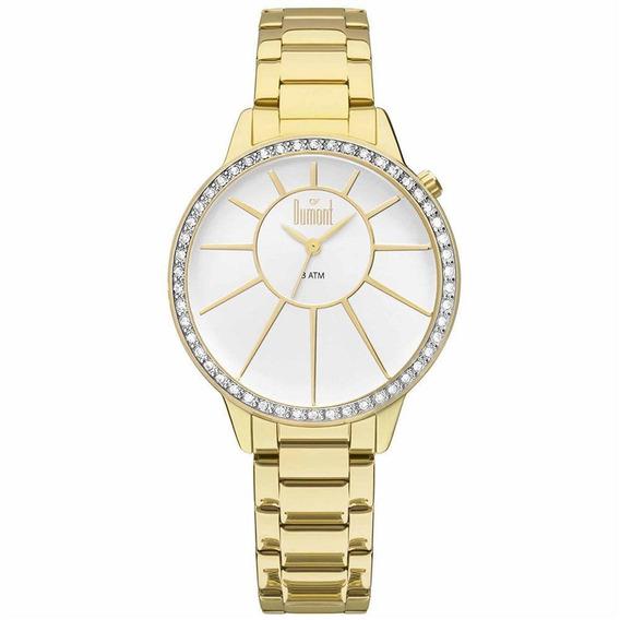 Relógio Dumont Analógico Feminino Dourado Du2035lvh/4b