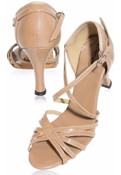 Sandália De Dança Bege - Capezio - Salto 5cm