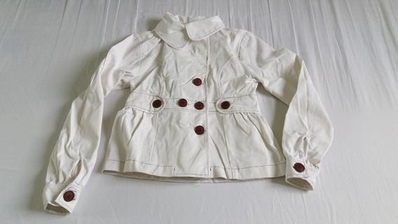 Jaqueta Jeans Off White Casaco Nude Casual Feminino Blusa De Frio Outono Inverno Tam M Seminova Parcela Em 12x Sem Juros