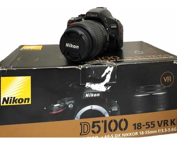 Câmera Nikon D5100 C Lente. 18:55 Seminova 13650 Cliques