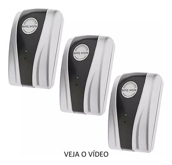 Kit 3 Peças Redutor Reduz Consumo De Energia Save Saving Box