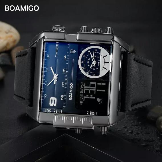 Relógio Masculino, Homens De Luxo 3 Tempos É Frete Grátis
