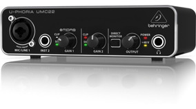 Interface De Áudio U-phoria Umc22 Behringer + Nf + Garantia!
