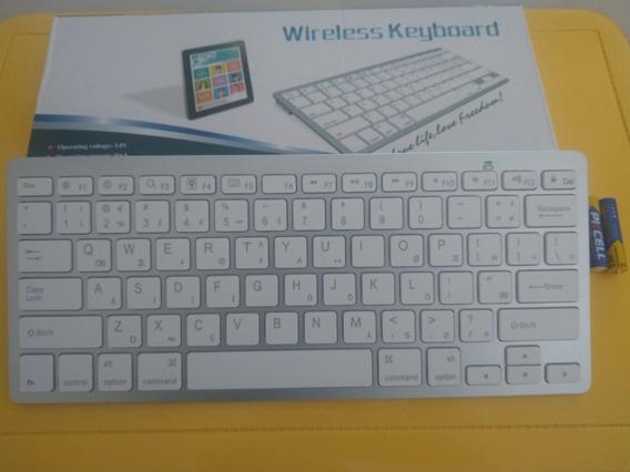 Mini Teclado Bluetooth P/ Celular, Tablet, iPad, iPhone E Pc