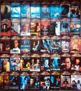 Coleccion Completa 41 Vhs + Fascículos/fichas Cine De Acción
