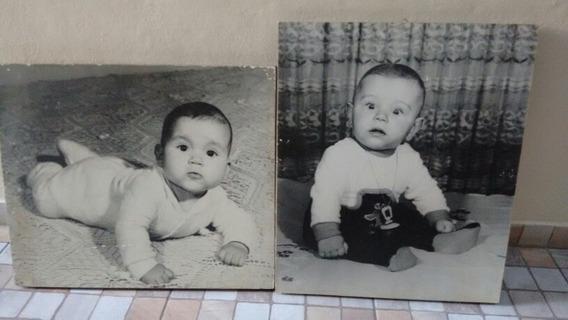 2 Fotografias Em Painéis. Anos 70. 66x 40 Cm.