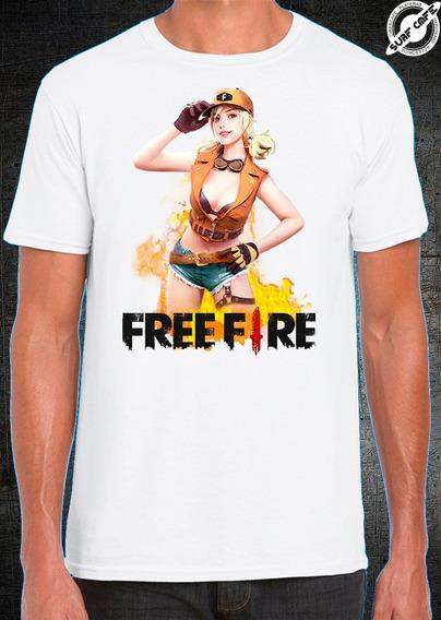 Playera Blanca Sublimada Free Fire Android 2