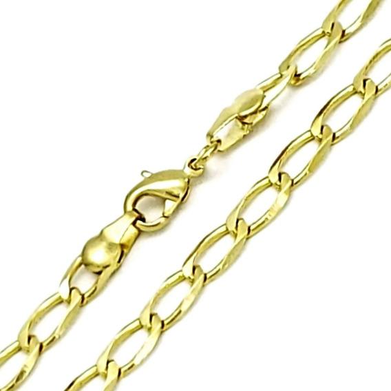 Corrente Cordão Masculino Grumet 70cm Banhado Ouro 18k 3521
