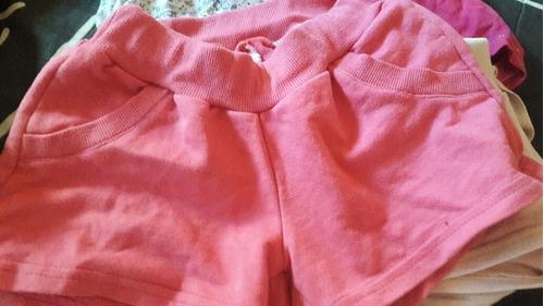 Combo De Pantalones Cortos Nena Talle 8 Y 10