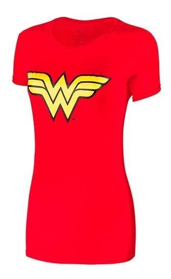 Playera Dama Wonder Woman Ltx 401amww03wb Rojo 078-435 T5