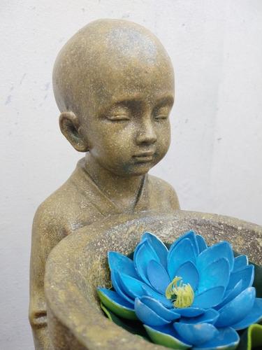Estatua Monje Hindú Niño Símil Piedra (solo X Pedido)