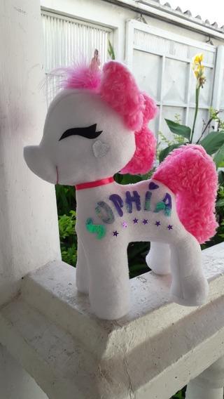 Peluche Unicornio Pony Personalizado 30 Cm